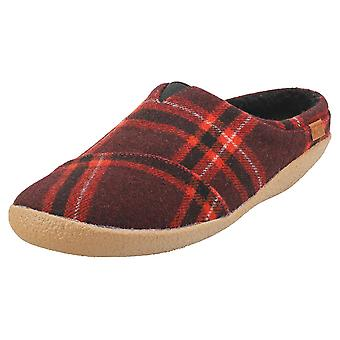 Toms Berkeley Mens Slip On Shoes in Red Black Plaid