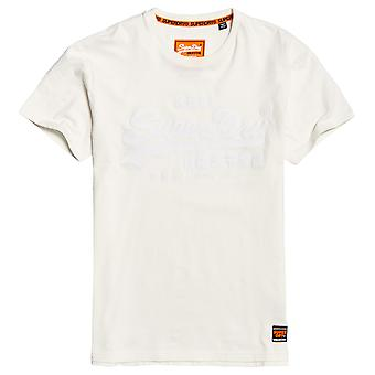 Superdry Vintage Logo Box Fit App Tee - Off White