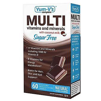 Yum-V's Multivitamin Sugar Free Milk Chocolate Flavor with Coconut Milk, 60 Chewables