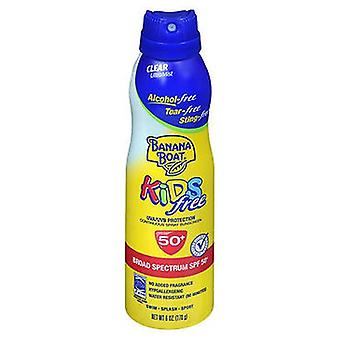 Banana Boat Kids Free Continuous Spray Sunscreen SPF 50+, 6 Oz