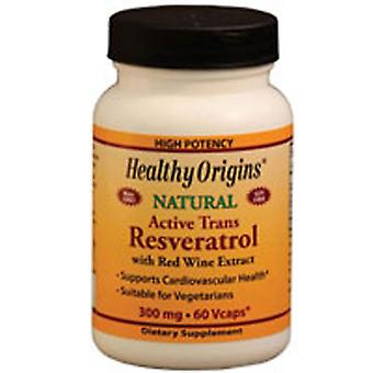 Healthy Origins Natural Resveratrol, 300 mg, 60 Veg caps