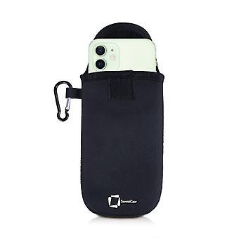 כיסוי תיק ניאופרן תיק InventCase עם קרבינר עבור אפל iPhone 12 - שחור