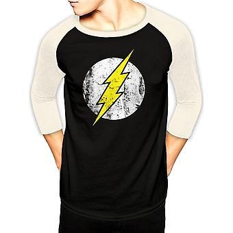 Flash Unisex Adults Distressed Logo Baseball Shirt