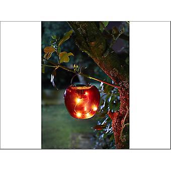 Smart Solar Funky Hanging Apple Light Red 1080957