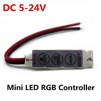 Mini 3 Keys Led Rgb Controller, Dimmer Driver For Rgb
