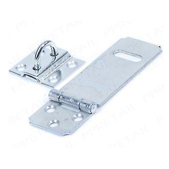 Home Label Safety Hasp & Staple 90mm Zinc Plated HSSA09ZP