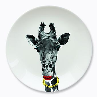 Mustard - wild dining - gina giraffe ceramic dinner plate