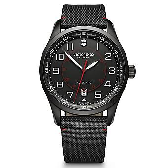 Victorinox Airboss Automatic Black Dial Fabric Strap Men's Watch 241720
