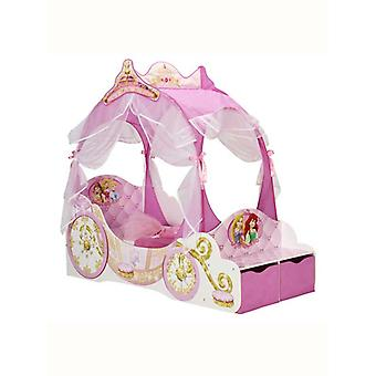 Disney Princess Carriage Toddler Bed With Fibre Mattress and Storage