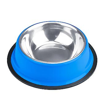 8oz. Tazón de perro de acero inoxidable azul