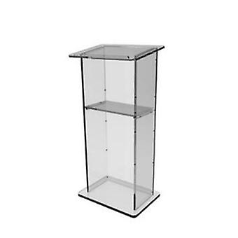 Beautiful Dull  Clear Polish  Acrylic Podium Pulpit Lectern With Shelf