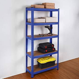 Heavy Duty Stahl & MDF 5 Tier-Regale in blau