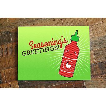 Sriracha Christmas Card Or Holidays Card