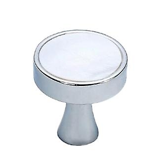 Cabinet Hardware Knob Single Hole Drawer Handle Light Grey Marble Pattern Small