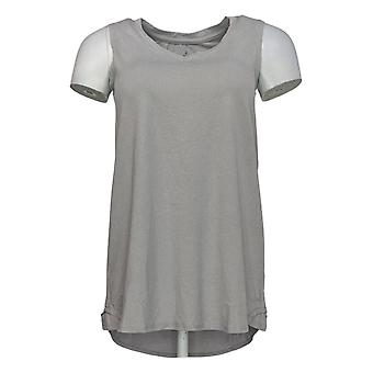 Cuddl Duds Women's Top Flexwear V-Neck Tank Gray A302779
