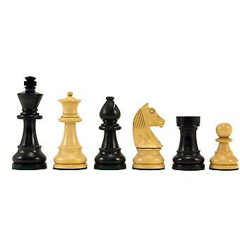 Alas pään Knight Ebonised Staunton shakki kappaleet 3.25 tuumaa