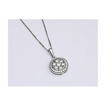 Luna Pearls Diamond Pendant 38 Brilliant 1ct. 750/-White Gold F_AH2-00002PF0100R