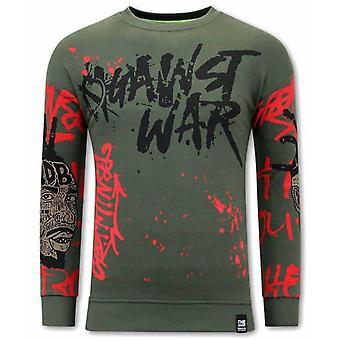 Graffiti Sweater - Green