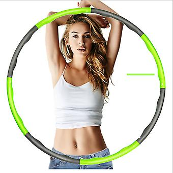 Green Weighted Hula Hoop Abdominal Exerciser Fitness Core Strength Hula hoop