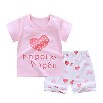 Cotton Summer Baby Soft Shorts Suit, T-shirt,,, Kids Infant Clothes