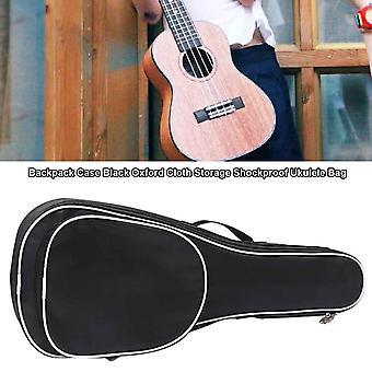 Adjustable Padded Zipper Pockets Black Strap Ukulele Bag