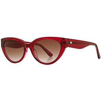Whistles Slim Cat Eye Sunglasses - Crystal Red