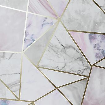 Peel en Stick Fragmenten Multi Wallpaper