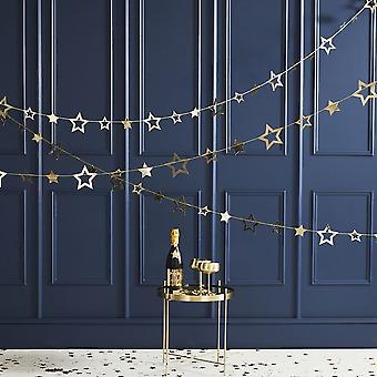 Star Garland Bunting Gold - Christmas Party Decoration 5m