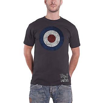 WHO T-paita ahdistunut Target Band logo virallinen miesten musta