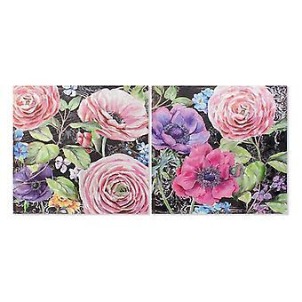 Malarstwo Dekodonia Kwiaty Kwiaty Płótno Glamorous (2 szt)Painting Dekodonia Flowers Canvas Glamorous (2 szt)