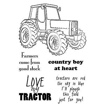 Woodware Clear Singles Tractor 4 в x 6 в штампе