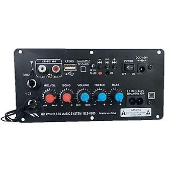 Tableau d'amplificateur stéréo Bluetooth numérique, Subwoofer, double microphone