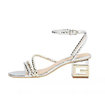Shoes Guess Sandalo Macre Tc 55 Ecopelle Platinum Ds21gu33 Fl6mcrpel03