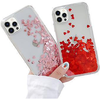 Iphone 12 Pro - Nestemäinen Glitter 3d Bling Shell -kotelo