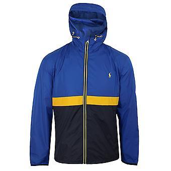 Ralph lauren men's blue belport hooded windbreaker