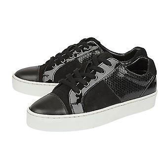Lotus Stressless Black Leather Sherlyn Casual Trainers (Taille 6)
