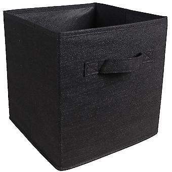 Ткань без крышки ящик для хранения с ручкой чистого цвета 27x27x28cm