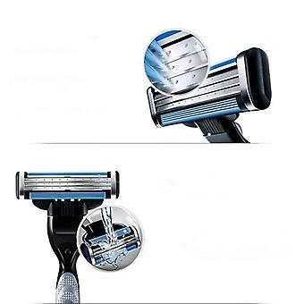 4 Pieces professional shaving blades replacements for gillette mache 3