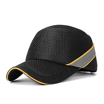 Work Safety Protective Helmet Bump Cap, Hard Inner Shell Baseball Hat Style