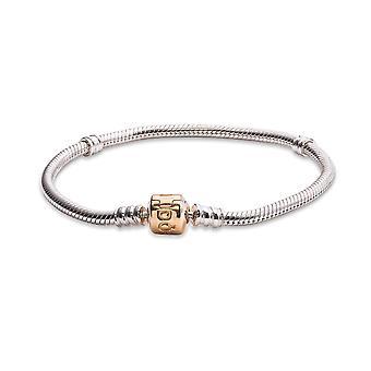 PANDORA Silver Charm Armband med 14K Guldlås