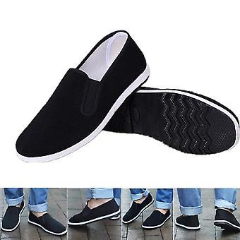Nouvelles chaussures chinoises de Kung Fu, chaussures traditionnelles noires de kung fu