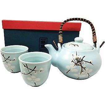 Bamboo Black and Gray Design Tea Set