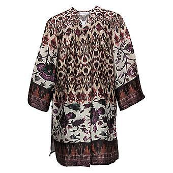 Susan Graver Dames's Sweater Bedrukt Charmeuse Vest Paars A367241