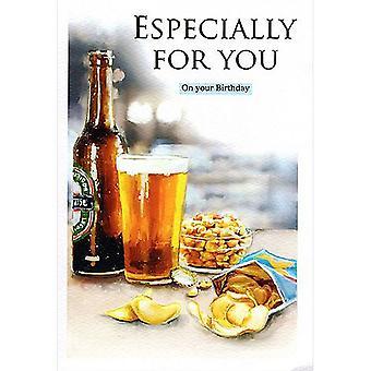 ICG Ltd Open Birthday Card Essence Range - Beer