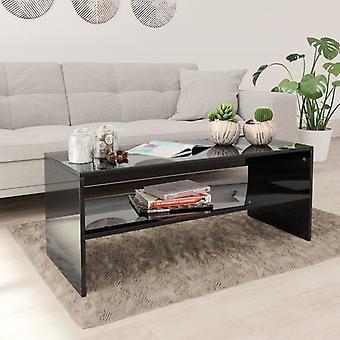 mesa de café vidaXL Alta Gloss Preto 100×40×40 cm Chipboard