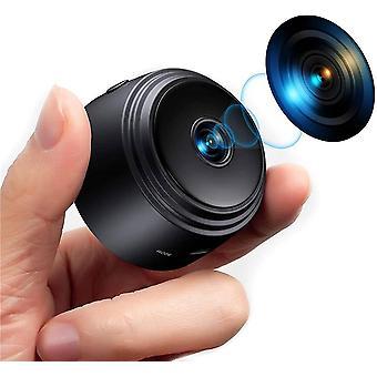 WiFi verborgen Spy Camera, Full HD 1080P draadloze video audio audio recorder kleine home security surveillance mini nanny cam met bewegingsdetectie nachtzicht kleine camera's (zwart)