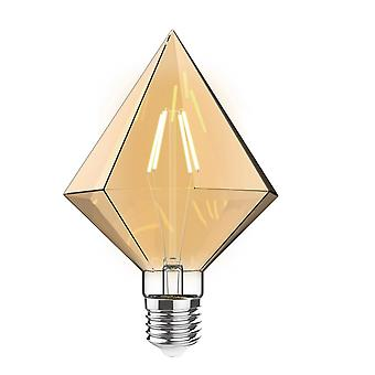 Classic Style Led Tri-diamond E27 Dimmable 220-240v 4w 2100k, 200lm, Amber