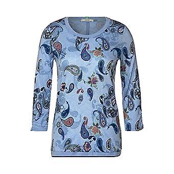 Cecil 315480 T-Shirt, Light Blue Melange, XXL Woman