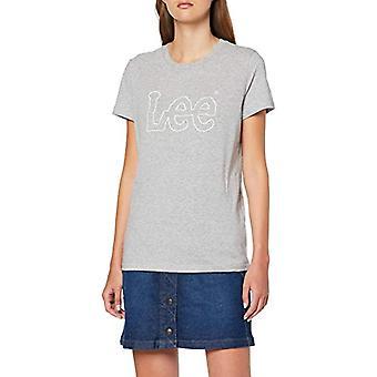Lee Essential Logo Tee T-Shirt, Grey (Grey Mele MP), M Woman