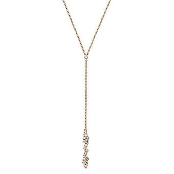 NOELANI - Women's Y-neck, in gold-plated silver 925 with zircons, adjustable chain in length